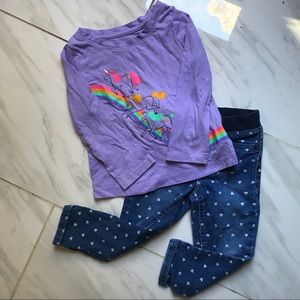🦄CAT & JACK OUTFIT SIZE 2T